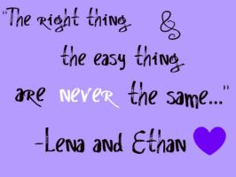 The Easy and The Right Thing by KatieXXDerek