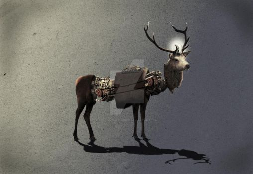 Mechanical Space deer 1 by Followthebubbles