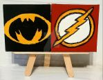 Magnets: The Flash 01 and Batman 01 by wolf-girl87