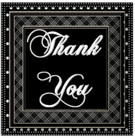 Thank You Black and White by AudraMBlackburnsArt