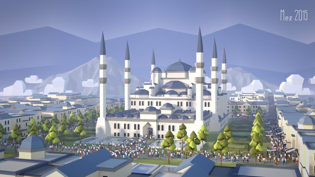 sultan ahmed mosque [LowPoly][reworked] by Mezaka