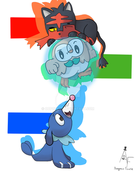Alolan Starters by Oopoppy2