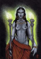 New Hekate Painting by Hellfurian-Guard