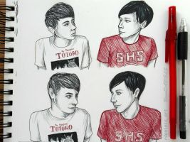 Pen Dan and Phil by RavenDANIELS