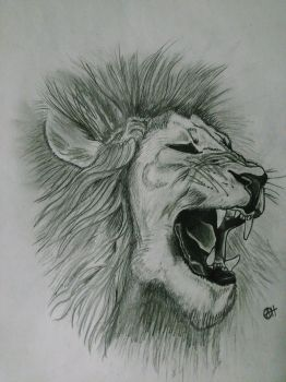 Realistic Lion (Lead) by lotus1396