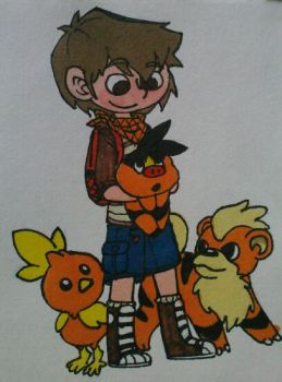 Percy and fire types by appleness123
