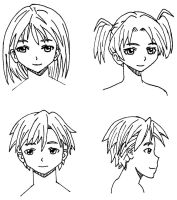 Manga faces by CalebHarms1996