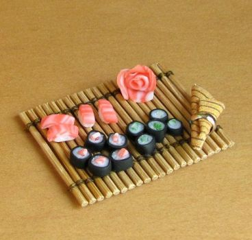 1 12 Scale Sushi by fairchildart