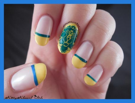 World of Warcraft Nail Art: Alliance by KittyKlawzPolish