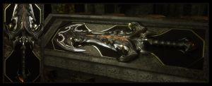 Daemonic Greatsword by Raelsatu