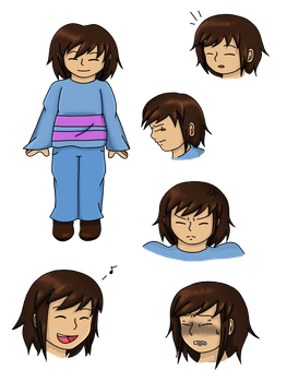 Undertale - Frisk by Vivi-Bluefire