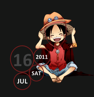 one piece rainmeter skin by S4Pabl0