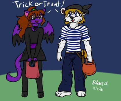 Comm- Kids trick or treat by wrytergirl