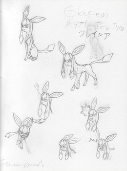 Pokemon Study - Glaceon by SparkleChord