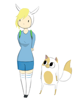 fionna and cake by RogueSpirit1997