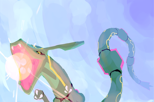 Rayquaza Paint by just--INK