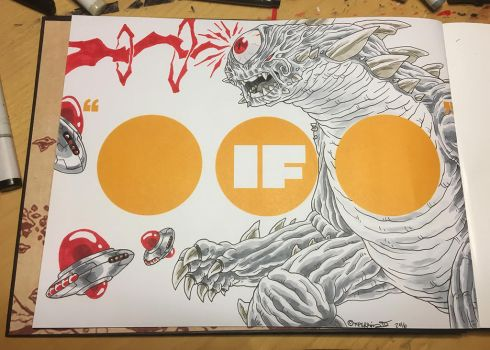A commission sketch inside my new art book IF... by tnperkins