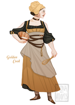 [closed] Adopt - Golden Cook by fionadoesadopts