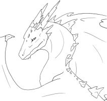 a generic dragon -free lineart by Horsehuggingdragon