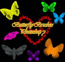 Butterfly Brushes Photoshop 7 by Forbidden-Stock