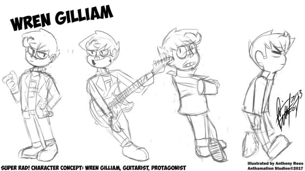 Super Rad! Character Concept: Wren Gilliam! by Anthamation