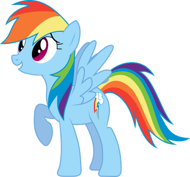 Rainbow Dash Vector by Urwy