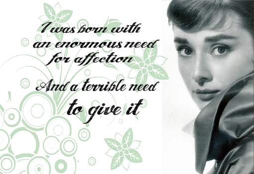 Affection - Audrey Hepburn by LadyRandom
