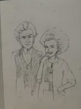 Doodle: Twelfth Doctor and Bill Potts by mafer-seow-wayn