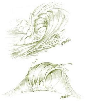 Wave Sketches by Tmann9900ART