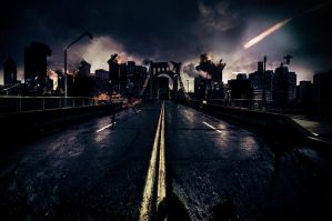 Destroyed city by GetOut06
