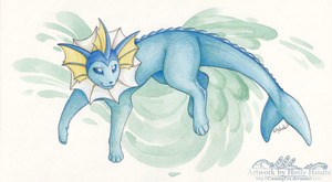 Vaporeon by Bear-hybrid