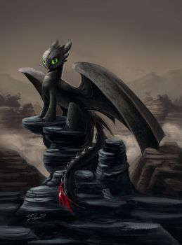 Toothless' Pedestal by Tsitra360