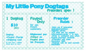 EDITED DESCRIPTION My Little Pony Preorders Open by Bisc-chan