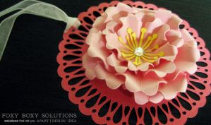 Cherry Blossom Paper Flower by foxyboxysolutions