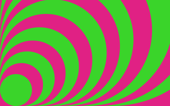 Concentric - Pink and Green by ts2master