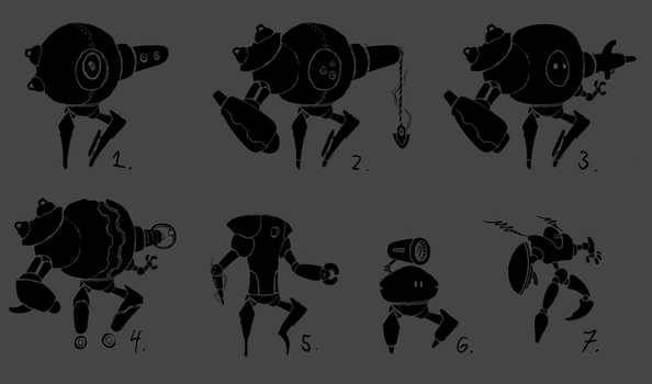 Some robot concepts by Alex-the-Irregular