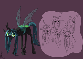 Queen Chrysalis practice by Dreatos