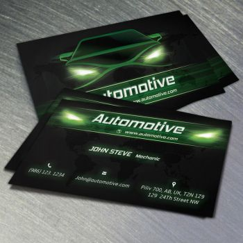 Automotive Business Card Green Color by Oksrider