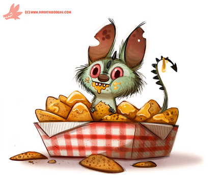 Daily Paint #1105. Chipacabra by Cryptid-Creations