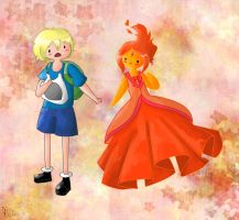 Finn and flame princess by Erickiwi