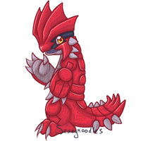 Little Groudon by scarynoodles