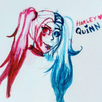 Freehanded Watercolour Harley Quinn by Annaliese123
