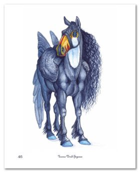 Toucan Draft Pegasus Print (Limited Edition) by CharReed