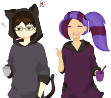 Cat Hoodies by MelodyAriaTune