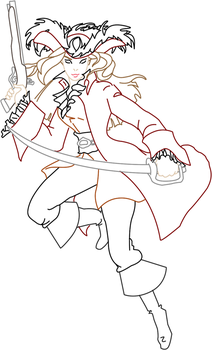 Lady Barbossa Outline by Chanjar1