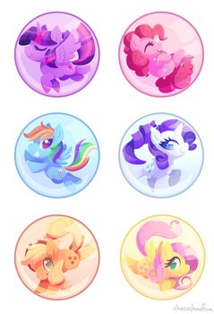 Bubbled Ponies by ChocoChaoFun