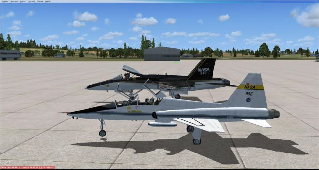 Me and InDeepSchit flying in flight simulator X by GeneralTate