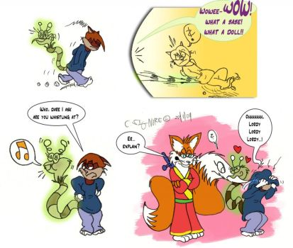 NOTMYART Charlie comic appear by qwertypictures by kitsunechao