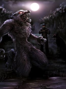 werewolf commission by dypsomaniart