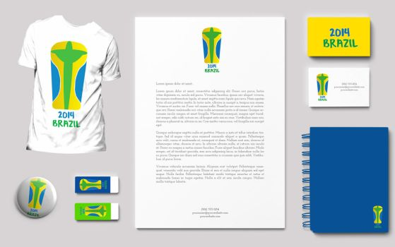 Brazil 2014 World Cup Mock Branding by JamieKempDesigns